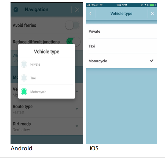 Waze routing and navigation features now serve motorcyclists.