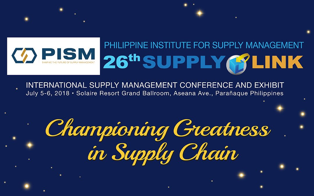 PISMTurns Gold for its 26th Supplylink International Conference and Exhibit