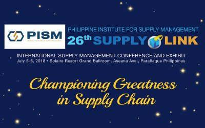 PISM Turns Gold for its 26th Supplylink International Conference and Exhibit