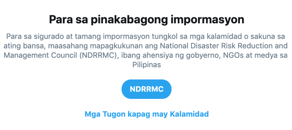 Twitter supports disaster preparedness in Philippines with launch of dedicated search prompt