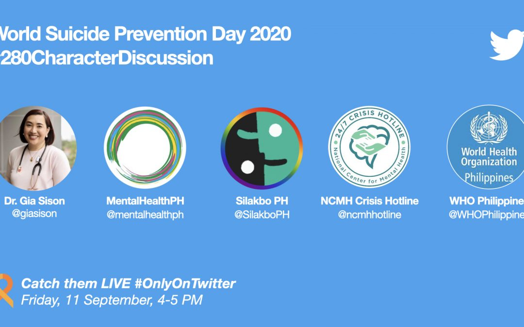 Twitter spearheads talk on #WorldSuicidePreventionDay via a 280-character panel discussion