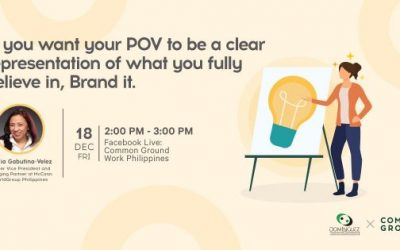 """Branding Your Idea"" free webinar at Common Ground"